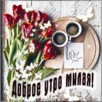 Доброе утро милая открытки