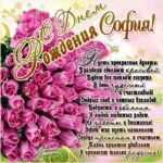 София музыкальная открытка др именины