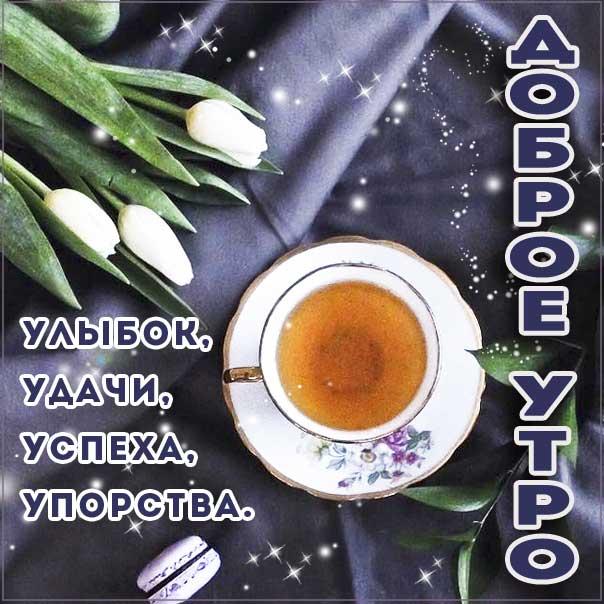 Доброе утро, позитивного утра, с добрым утром открытки, утро чай тюльпаны, чудесного тебе утра, прекрасного утра